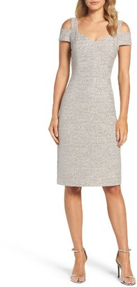 Women's Eliza J Cold Shoulder Sheath Dress $158 thestylecure.com