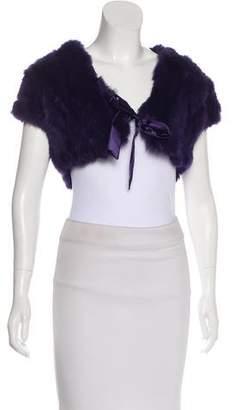 DKNY Short Sleeve Fur Bolero
