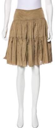 Ralph Lauren Purple Label Silk Knee-Length Skirt