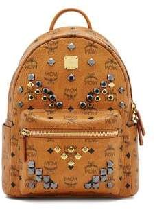 MCM Stark M Stud Small Coated Canvas Backpack