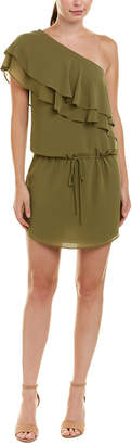 Haute Hippie One-Shoulder Mini Dress