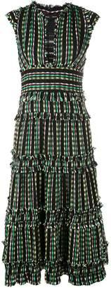 Proenza Schouler tiered tweed dress