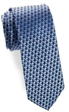 Charvet Anchor Pattern Silk Tie