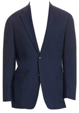 Emporio Armani Men's G Line Notch Lapel Wool Jacket - Blue - Size 48 (38) R