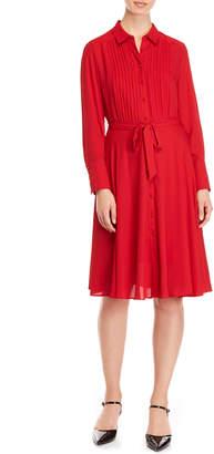 Nanette Lepore Nanette Chiffon Belted Shirt Dress