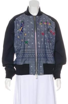 Sacai Embroidered Long Sleeve Jacket