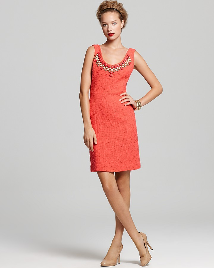 Milly Dress - Slub Tweed Kaylee Beaded Dress