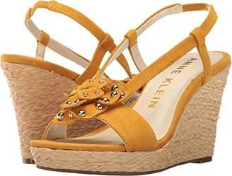 Anne Klein Women's Marigold Suede Espadrille Wedge Sandal