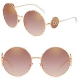 Dolce & Gabbana 59MM Mirror Round Sunglasses