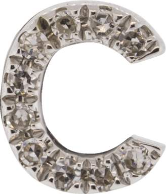 Ef Collection Diamond Initial C Stud Earring