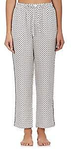 Sleepy Jones Women's Marina Silk Pajama Pants-Cream Dot