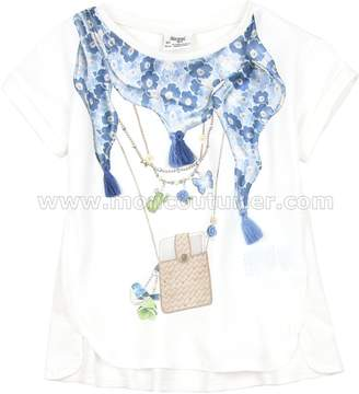 Mayoral Girl's Top with Scarf, Sizes 2-9