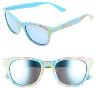 Lilly Pulitzer R) Maddie 52mm Polarized Mirrored Sunglasses