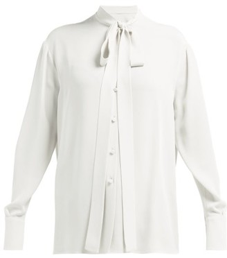 242caddfad4cac Valentino Pussy Bow Silk Georgette Blouse - Womens - Ivory