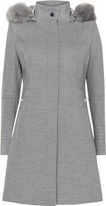 Wallis PETITE Grey Hooded Coat