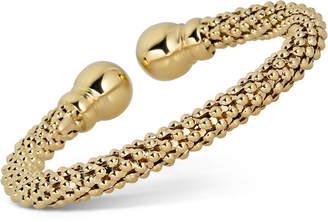 Italian Gold Popcorn Cuff Bracelet in 18k Gold