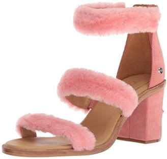 UGG Women's W DEL Rey Fluff Heel Heeled Sandal