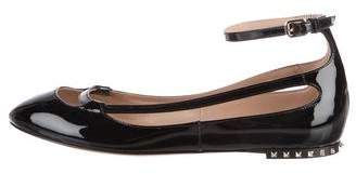 Valentino Rockstud Patent Leather Flats