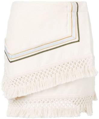 3.1 Phillip Lim Fringe asymetrical mini skirt