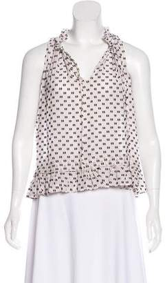 Rebecca Taylor Silk-Blend Sleeveless Top