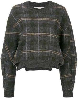 Stella McCartney check long-sleeve sweater
