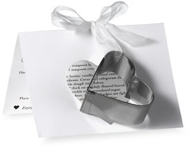 Heart Shaped Cookie Cutter Favors (Set of 12)