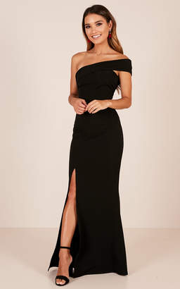 Showpo Glamour Girl maxi dress in black