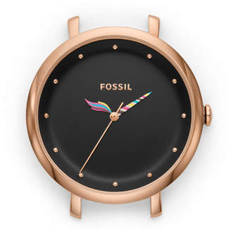 Fossil Jacqueline Three-Hand Rose Gold-Tone Stainless Steel Watch Case