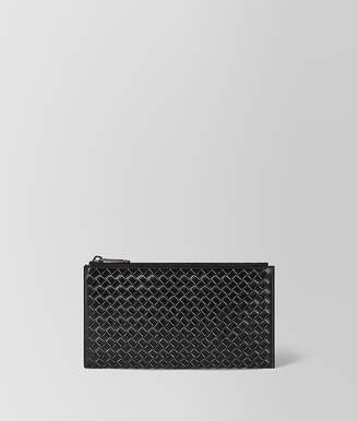 Bottega Veneta NERO METAL BRUSH CALF MULTI-FUNCTIONAL CASE