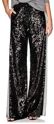 Alberta Ferretti Women's Sequin-Embellished Track Pants