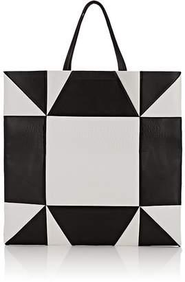 Calvin Klein Women's Oversized Geometric Leather Tote Bag