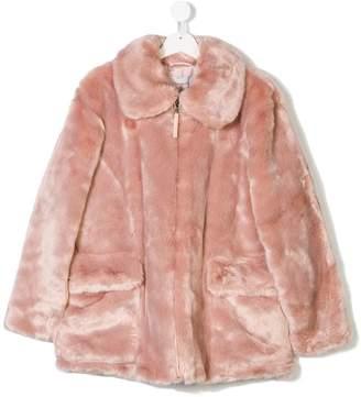 Stella McCartney TEEN bird logo zipped jacket