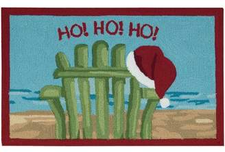 The Holiday Aisle Hand Hooked Light Blue Area Rug