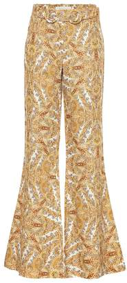Zimmermann Zippy paisley flared linen pants