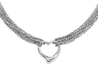 Steel by Design Stainless Steel Multi-Strand Polished Heart Tog