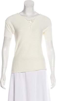 Frame Short Sleeve Knit Top