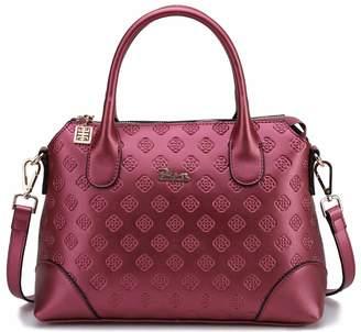 BOYATU Genuine Leather Handbags for Women Business Ladies Top Handle Shoulder Bag