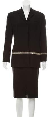 Gianni Versace Wool Notch-Lapel Skirt Suit