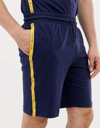 Tommy Hilfiger sweat shorts with contrast taping in navy