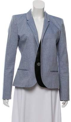 Barbara Bui Leather-Accented Blazer