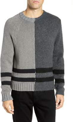 French Connection Regular Fit Colorblock Stripe Detail Sweater