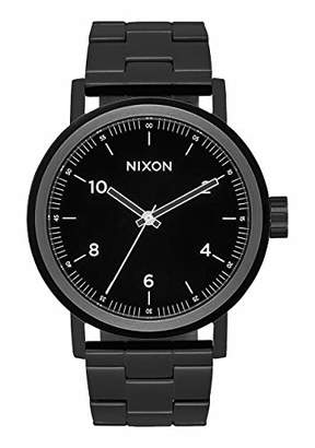 Nixon Stark A1194 - All Black/White - 102M Water Resistant Men's Analog Classic Watch (42mm Watch Face
