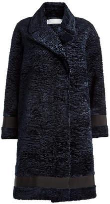 Victoria Beckham Victoria Oversized Coat with Satin