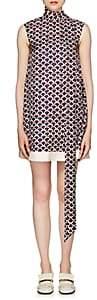 Valentino Women's Logo Scale Silk Shift Dress