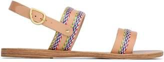 Ancient Greek Sandals 刺繍入りレザー サンダル