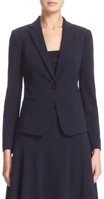 Women's Armani Collezioni Stretch Wool One-Button Jacket $1,195 thestylecure.com