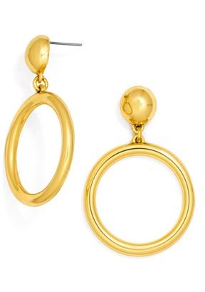 Ring Hoop Earrings $34 thestylecure.com