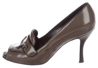 Louis Vuitton Leather Embellished Pumps