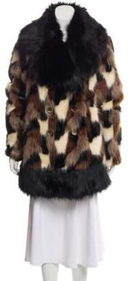 Marc Jacobs Fur Short Coat Black Fur Short Coat