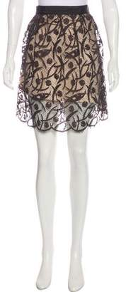 Milly Knee-Length Lace Skirt